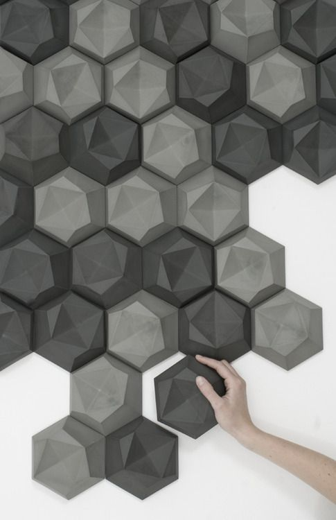 Edgy 3d tile by patrycja domanska and tanja lightfoot for 3d concrete tiles