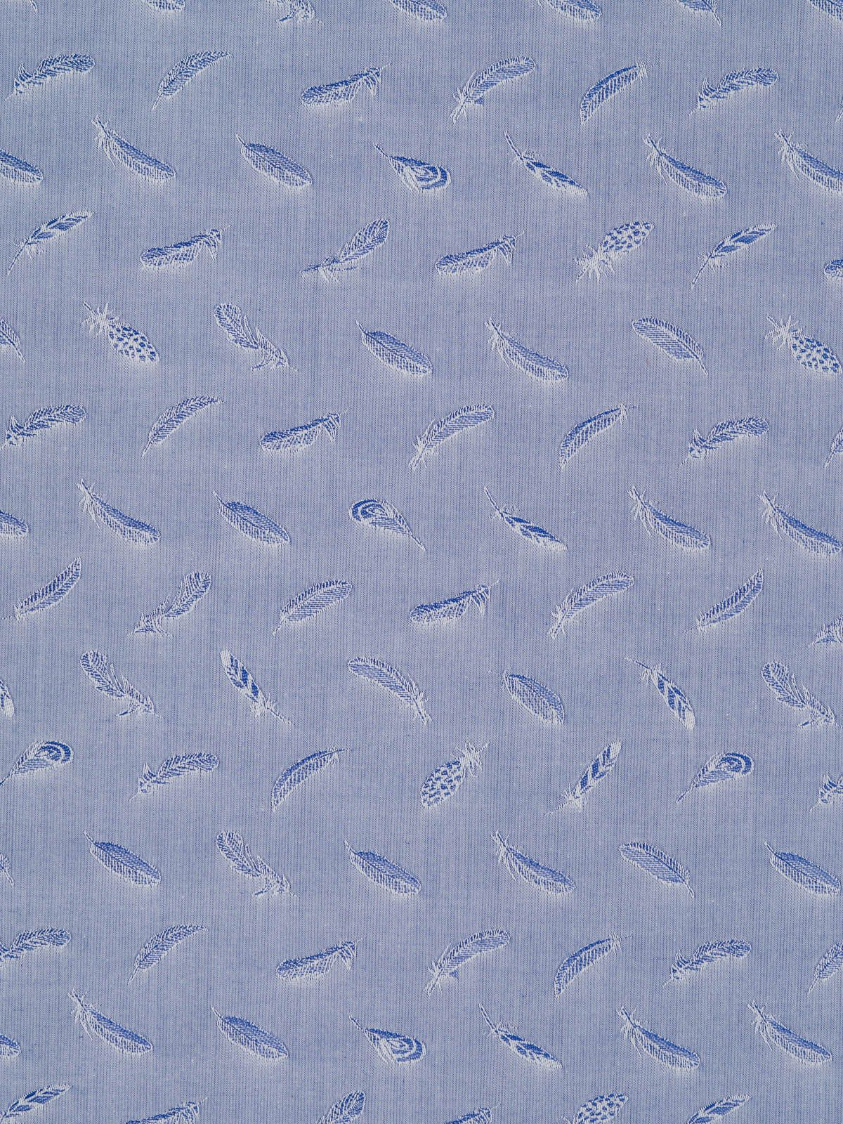 Feather Pattern Sky Blue High Thread Count Cotton Fabric Fabworks Online