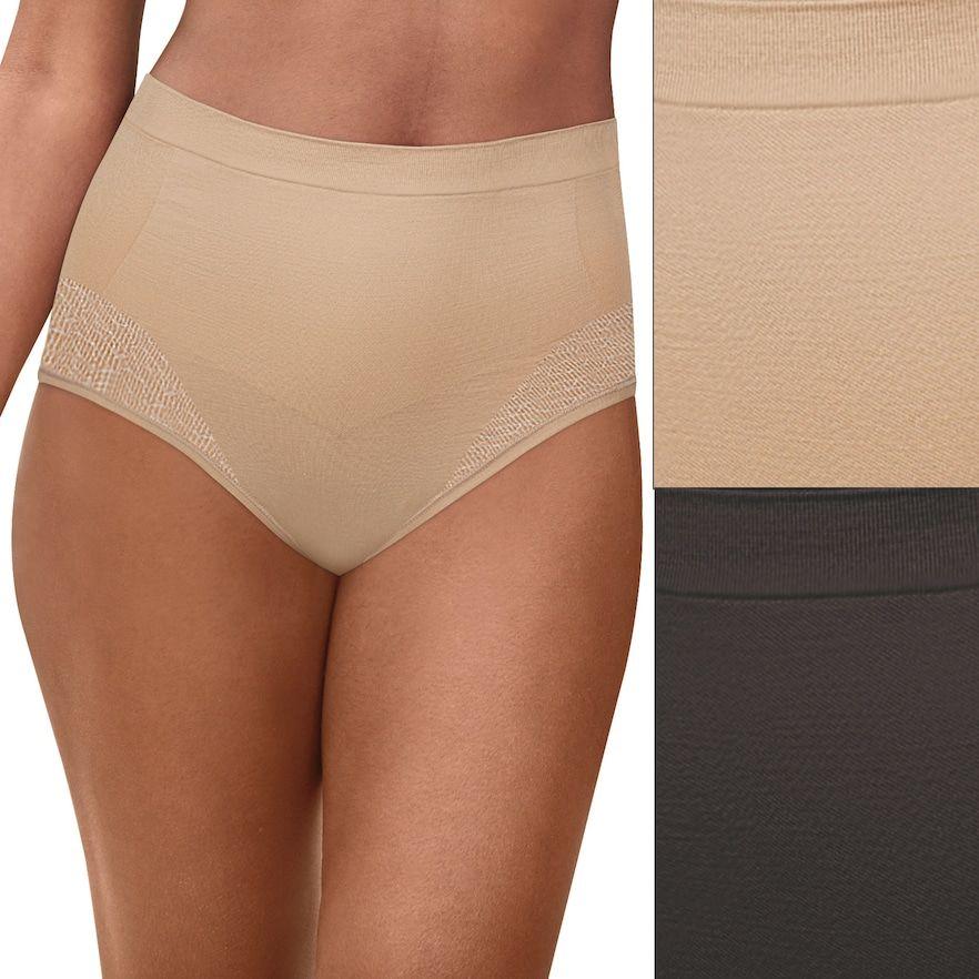 8b2600e852e Women's Bali Comfort Revolution 2-Pack Firm Control Brief DF0048, Size: