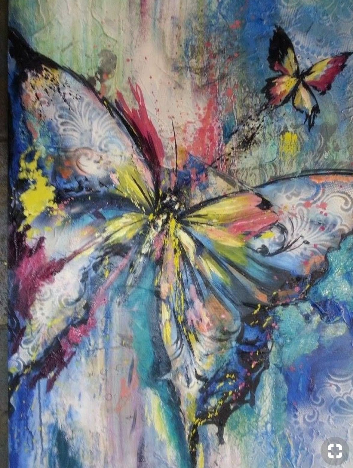 Studio Works Modern /'Dusk Butterfly/' Wall Art Framed Fine Art Print