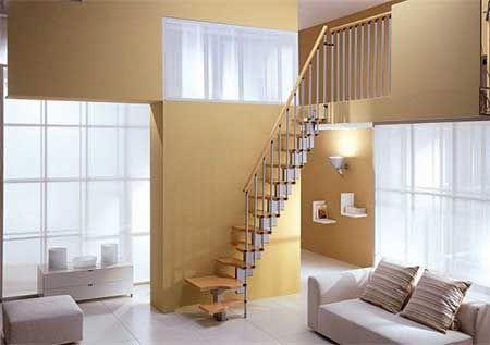 Escalera Espacio Reducido Casas Pequeñas Diseño De