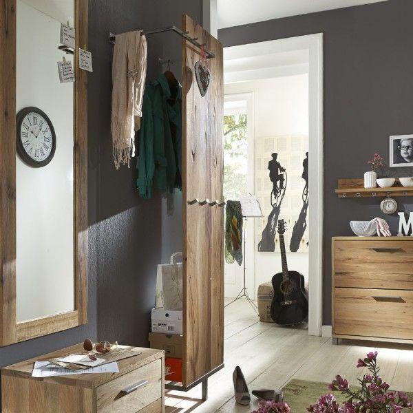 Paneel Eiche Rockit Garderobe Garderobenpaneel Garderobe Holz Balkeneiche