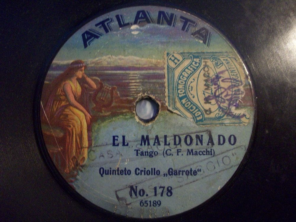 2nd Raritys Auction 2016 !! ‪#‎78rpm‬ ‪#‎shellacrecords‬ QUINTETO CRIOLLO  GARROTE  Pabellon de las Rosas / El Mandonado  Atlanta 78rpm