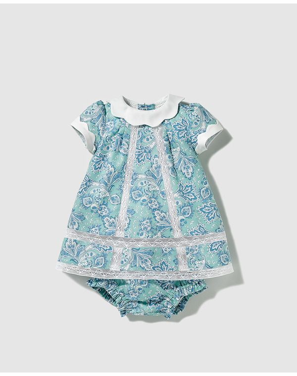 40304f00000f Image for Dulces baby girls' green printed dress from El Corte Inglés UK