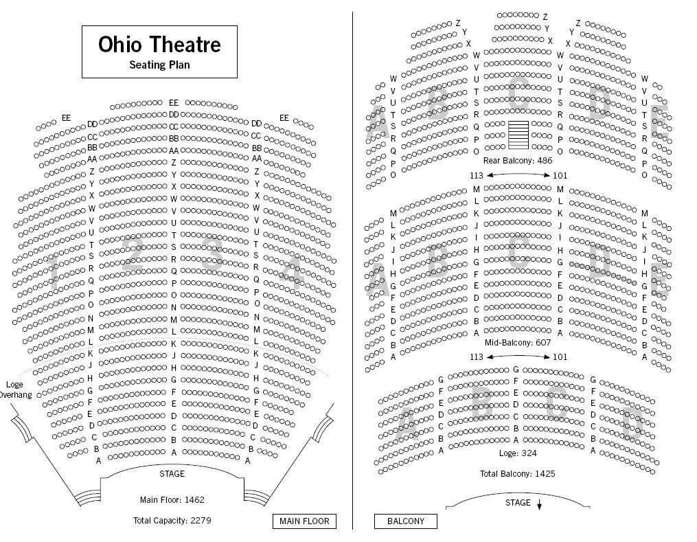 Ohio theatre columbus seating chart www napma net