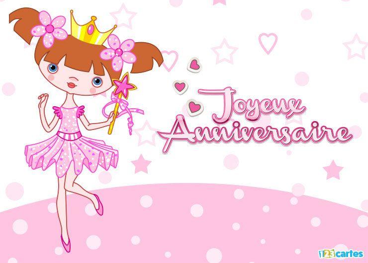 Des Centaines De Modeles De Cartes Originales Pour Souhaiter Joyeux Anniversaire A T Joyeux Anniversaire Princesse Carte Joyeux Anniversaire Carte Anniversaire