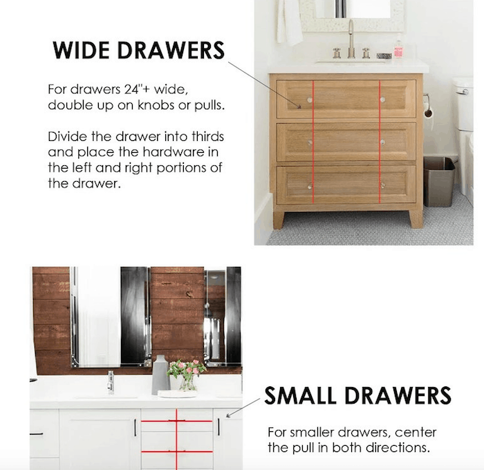 A Guide To Cabinet Hardware Placement Cabinet Hardware Cabinet Small Drawers