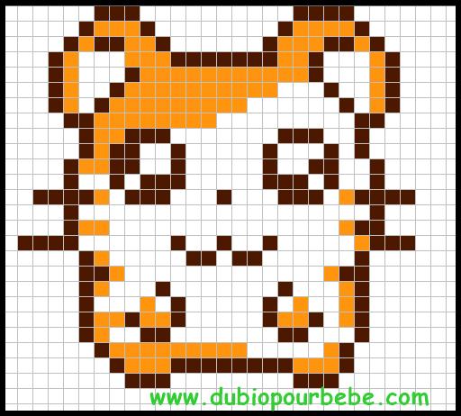 Hamtaro Modèle Parle Hama Hamabeads Pixel Art Pixel Art