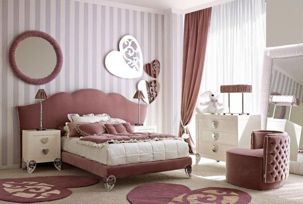 colori giusti per imbiancare la casa - pareti a righe in cameretta ... - Come Imbiancare La Camera Da Letto
