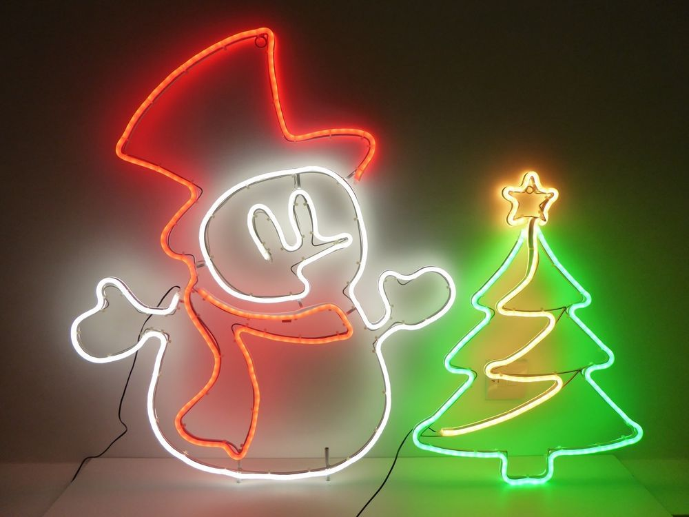 Outdoor Christmas Lights Neon Led Xmas Wall Outside Rope Light Silhouette Ukgardens