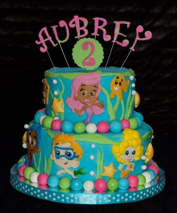 Vivian S 2 Yr Party Bubble Guppies Cake With Images Bubble
