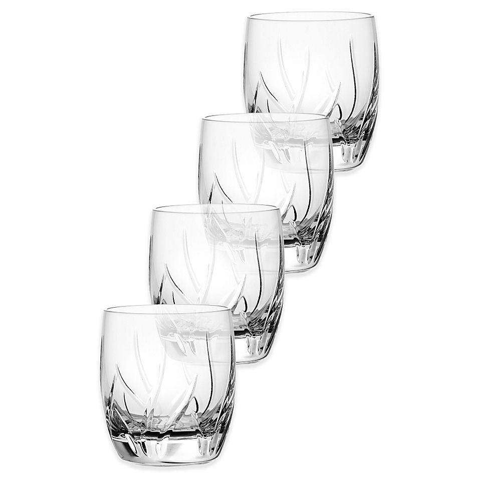 Mikasa Agena Double Old Fashioned Glasses (Set Of 4) Crystal #casualdinnerware