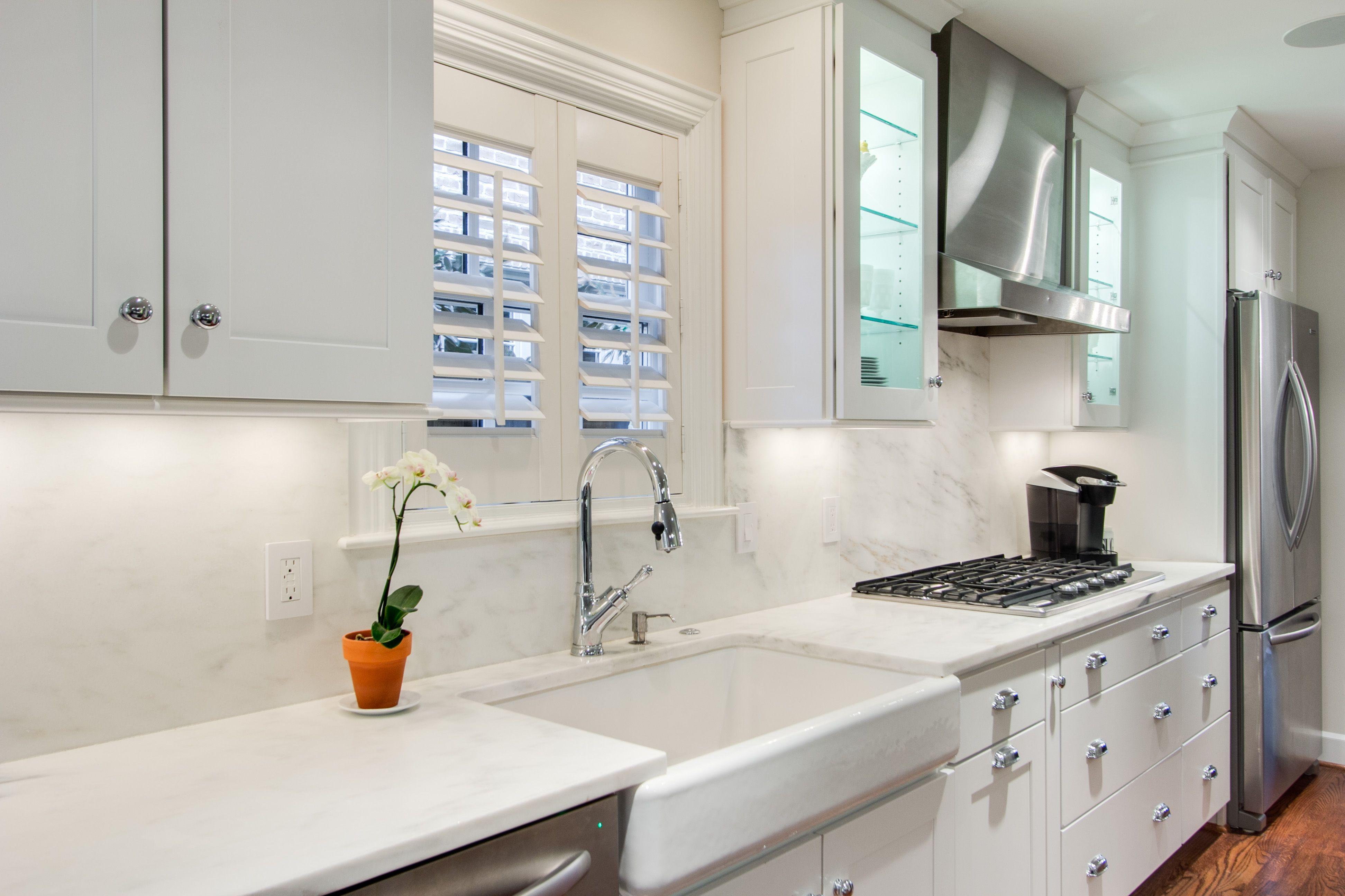 This modern kitchen designed by Kitchen Design Concepts