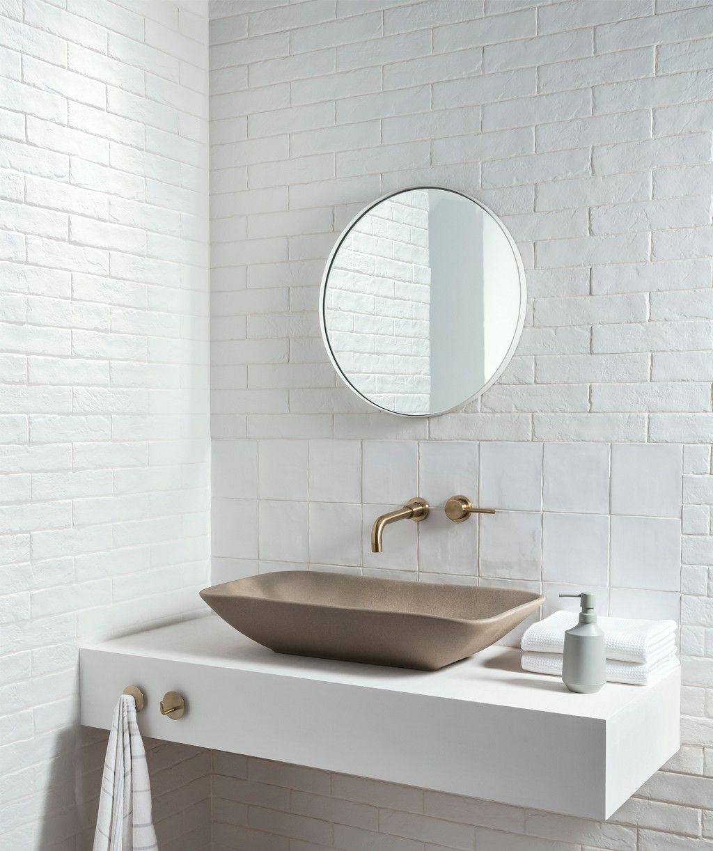 hartley™ white tile  topps tiles  large tile bathroom