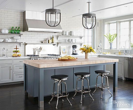 Best Colorful Kitchen Islands Gray Island Kitchens And White 400 x 300