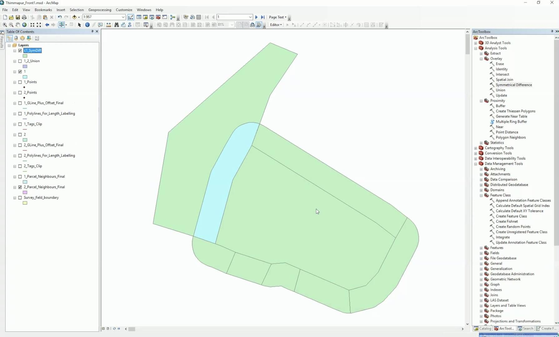 ArcGIS 10 2 Symmetrical Difference Combine input and output features