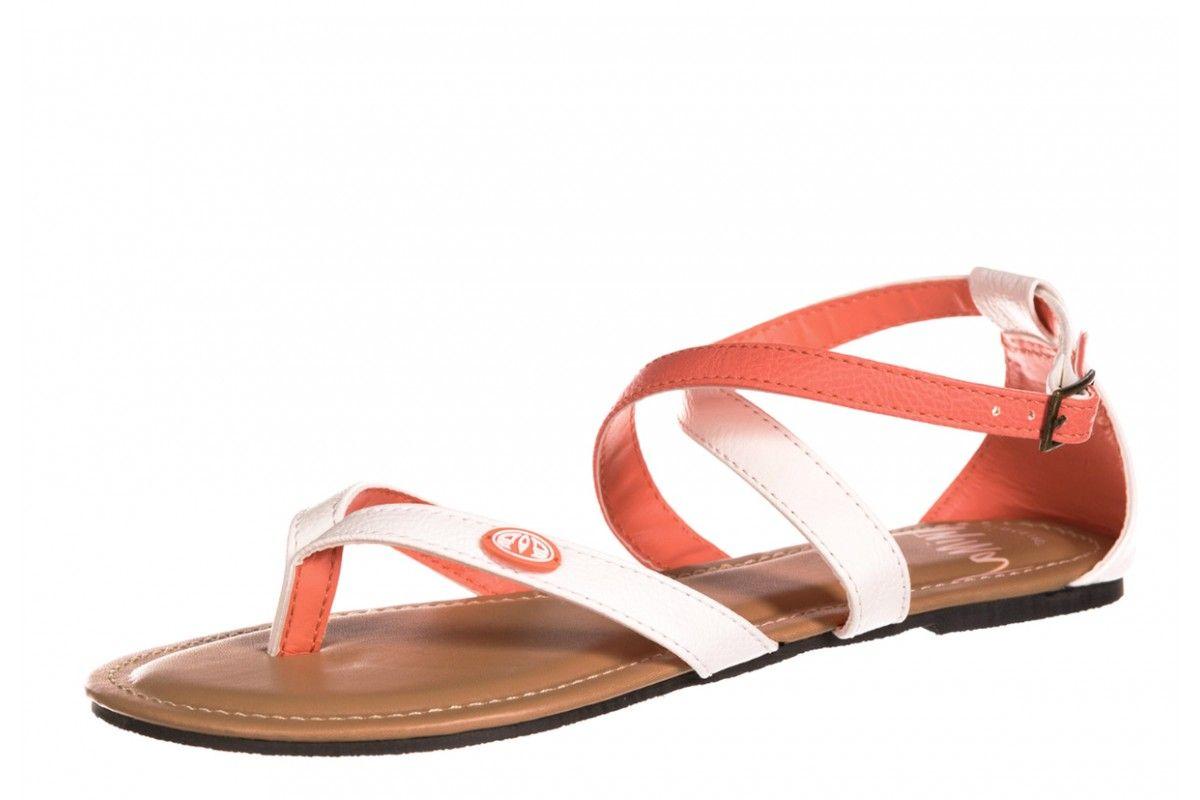 c098c5dfd95b Animal Napa Tan Daisy White Coral Women s Ankle Strap Flat Sandals ...