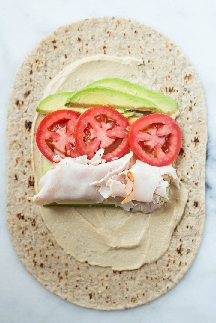 Photo of Avocado, Turkey & Hummus Wrap – 720 x 1079 Avocado Turkey Hummus Wrap laid out …