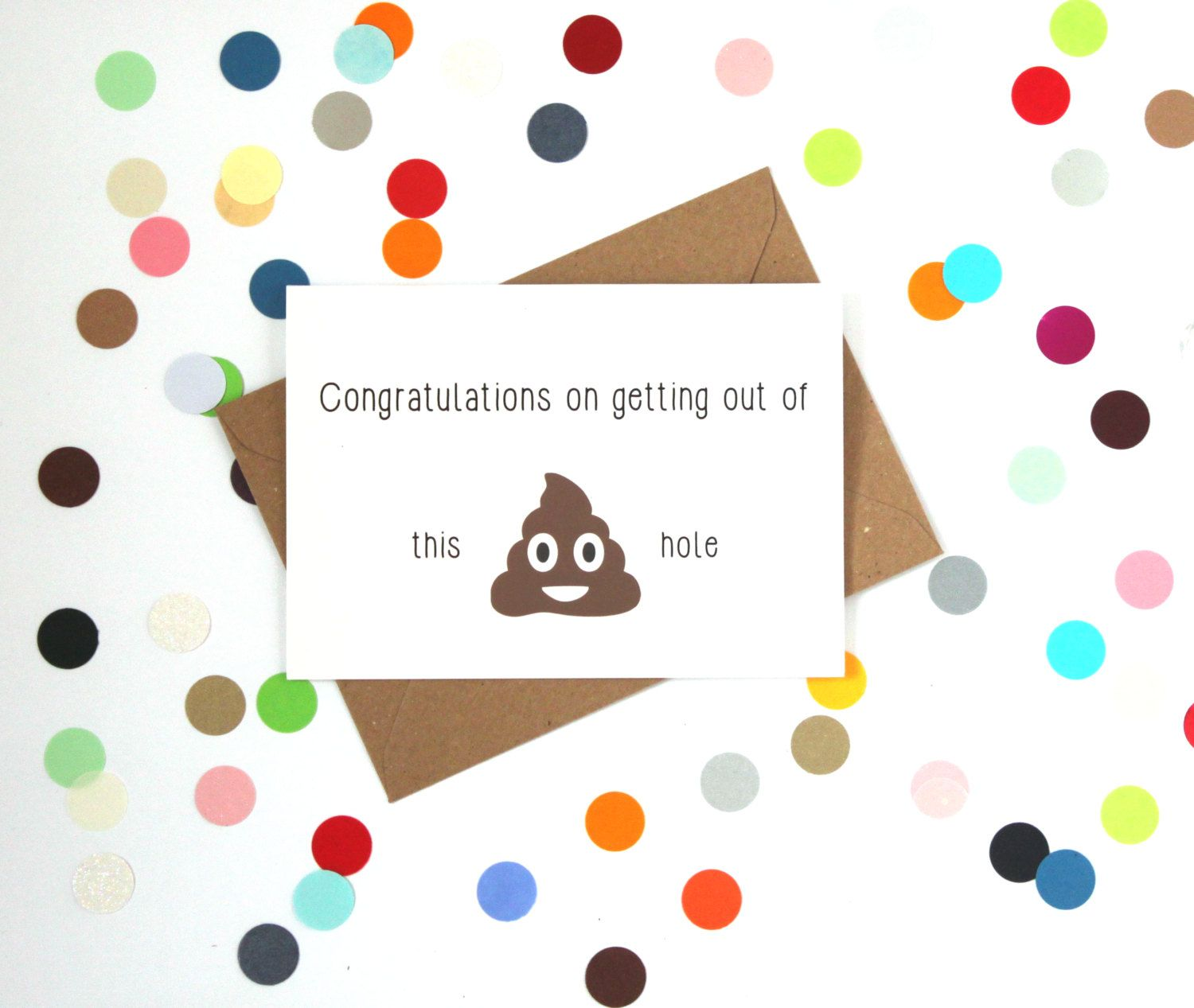 funny new job card congratulations on getting out of this sh t funny new job card congratulations on getting out of this sh t hole