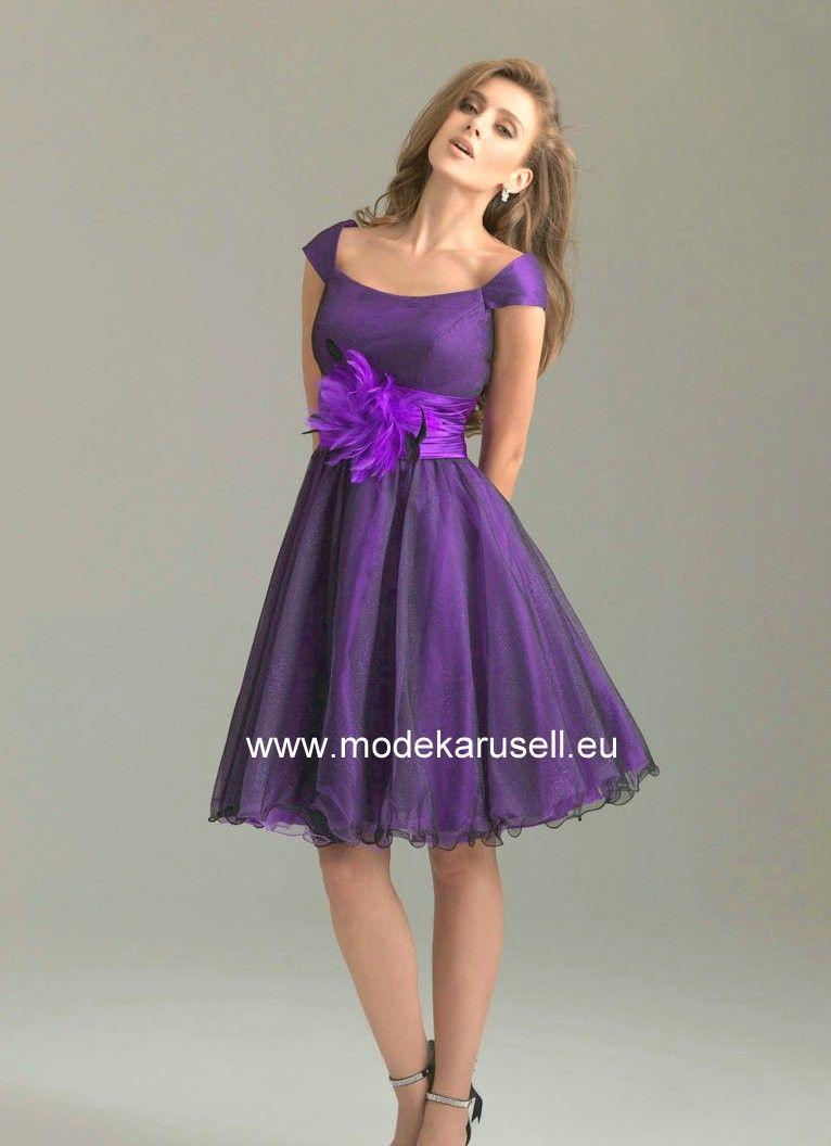 Süsses Knielanges Abendkleid in Lila   günstige Abendkleider Online ...