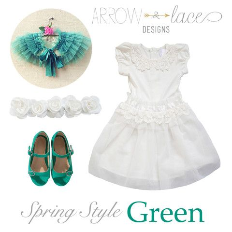 Spring Style. Ivory & Green #arrowandlacelooks