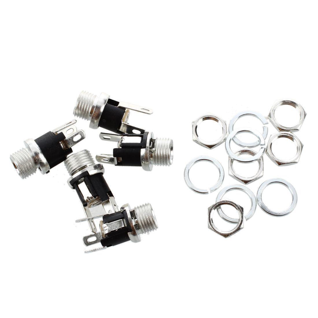 5 Pcs DC Prise d'alimentation Socket Femelle Panneau Monture Connecteur WT
