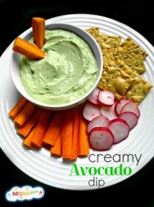 Creamy Avocado Dip will be perfect for St. Patricks Days!