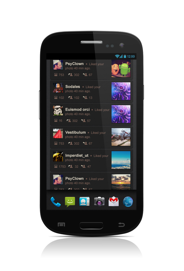 #Social Launcher for #Android & #interaction demo by Ilya Tsuprun, via Behance
