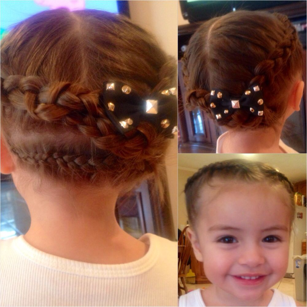 Double Crown Braid For Toddler Toddler Braids Crown Braid Natural Hair Styles