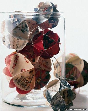 Bolas de papel reciclado