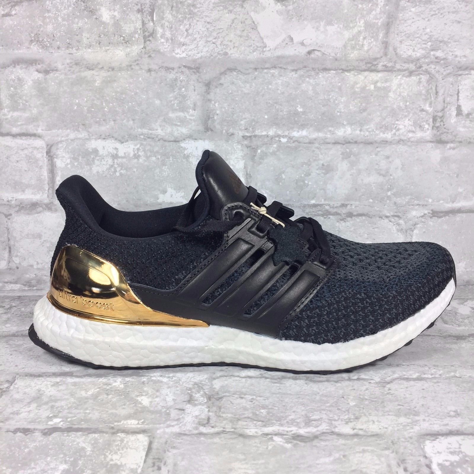 Men's Adidas Ultra Boost LTD Olympic Medal Black Gold BB3929 Size: 8-13