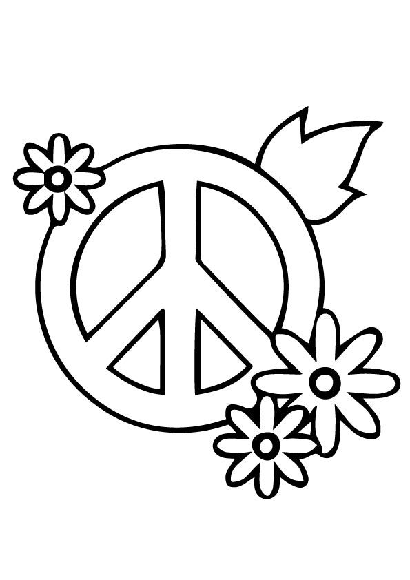 Top 25 Peace Sign Coloring Pages Your Toddler Will Love Free Coloring Pages Coloring Pages Rock Painting Patterns