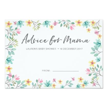 Baby Shower Advice Cards Colourful Flowers Zazzle Com Baby