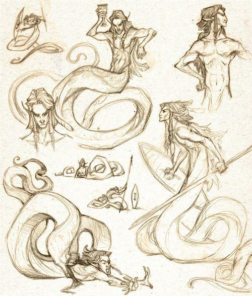Nagah Warrior by `dapperowl Dessin de créatures