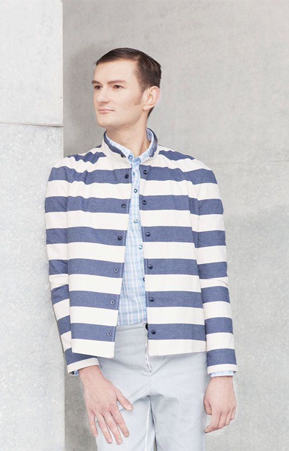 Stripy Jacket Todd by KnothKouture on Etsy