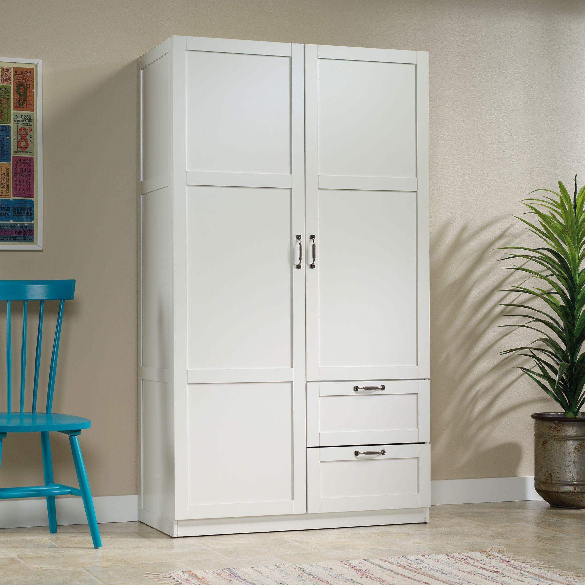 Sauder Select Wardrobe Armoire, White Finish - Walmart.com