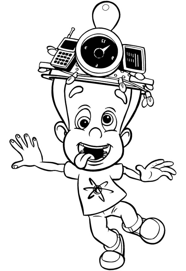 Jimmy Neutron Silly Face Coloring Pages : Bulk Color ...