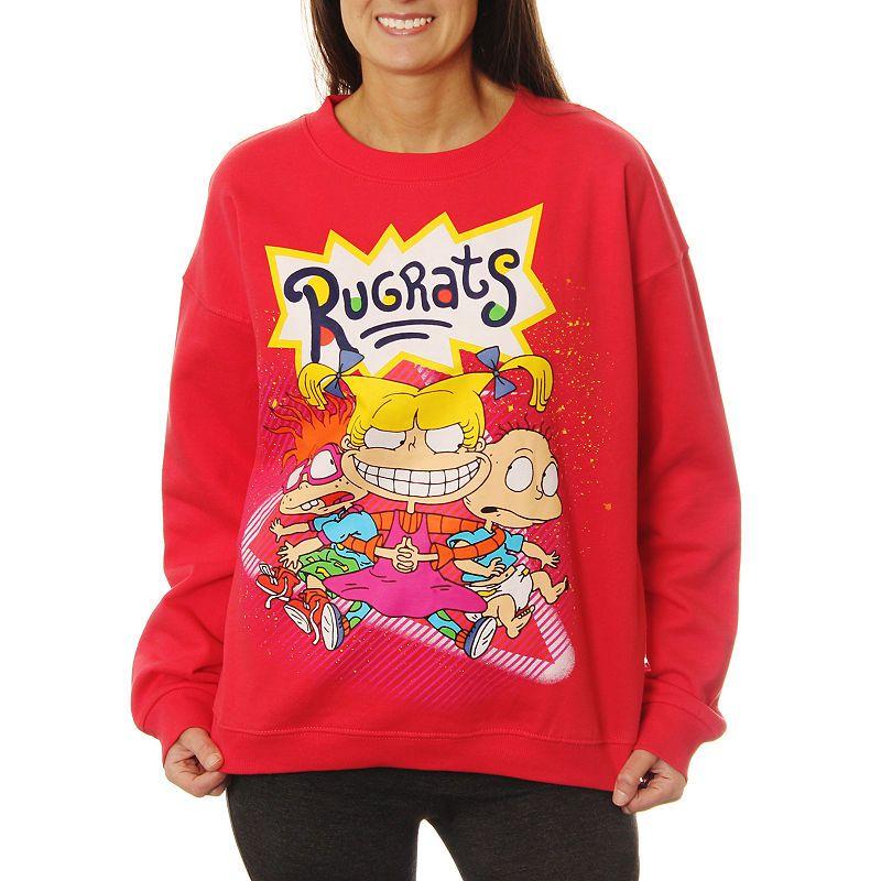 Juniors Cropped Crewneck Spongebob Sweatshirt