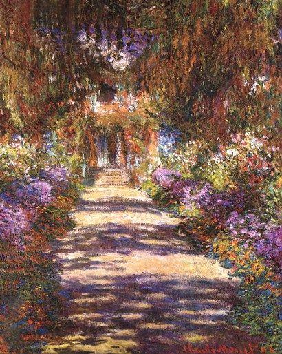 Jardin A Giverny By Claude Monet Monet Art Monet Paintings Art