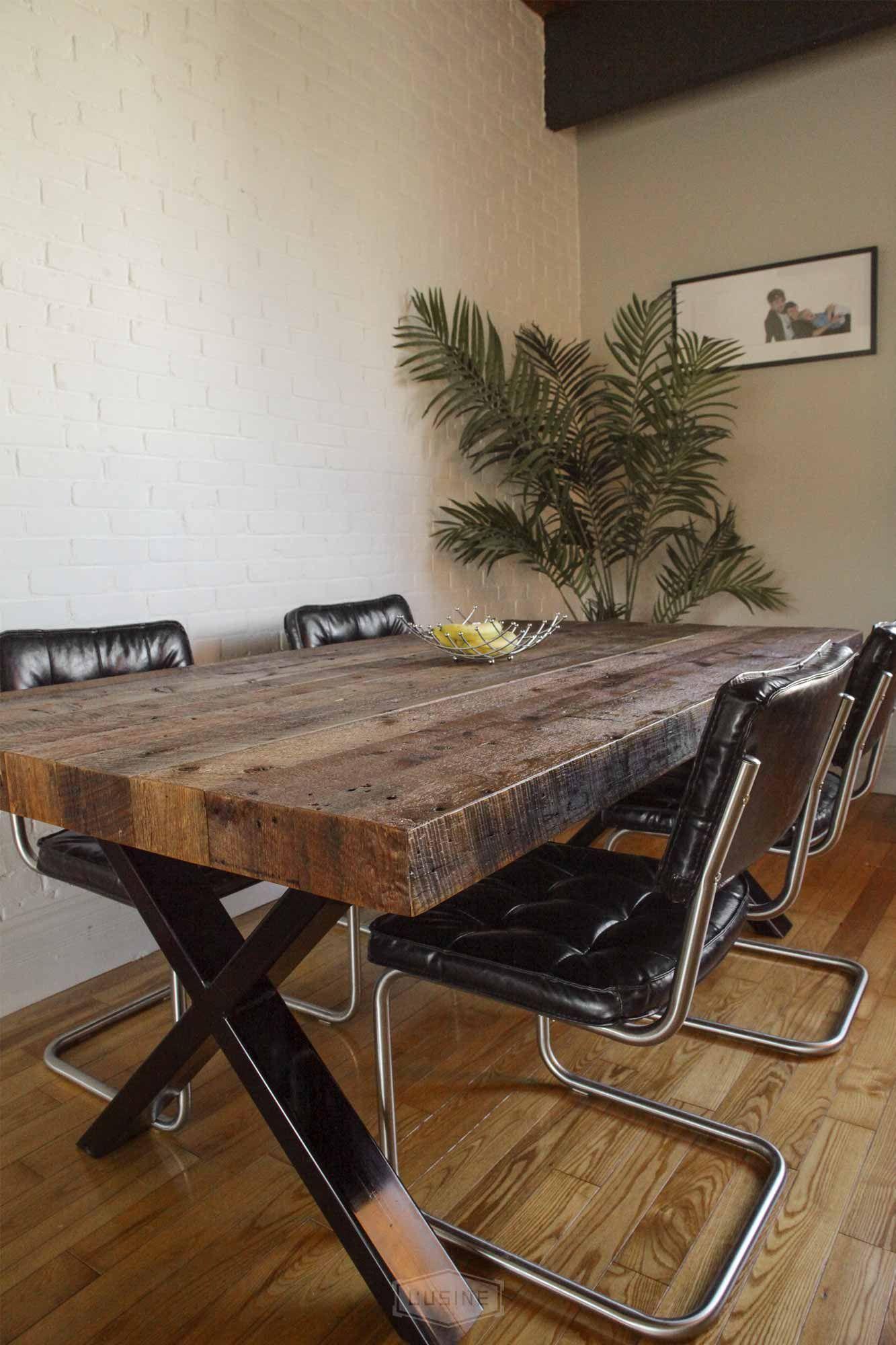 Table sur mesure fabriquée par L\'USINE QUÉBEC #table #dinning #room ...