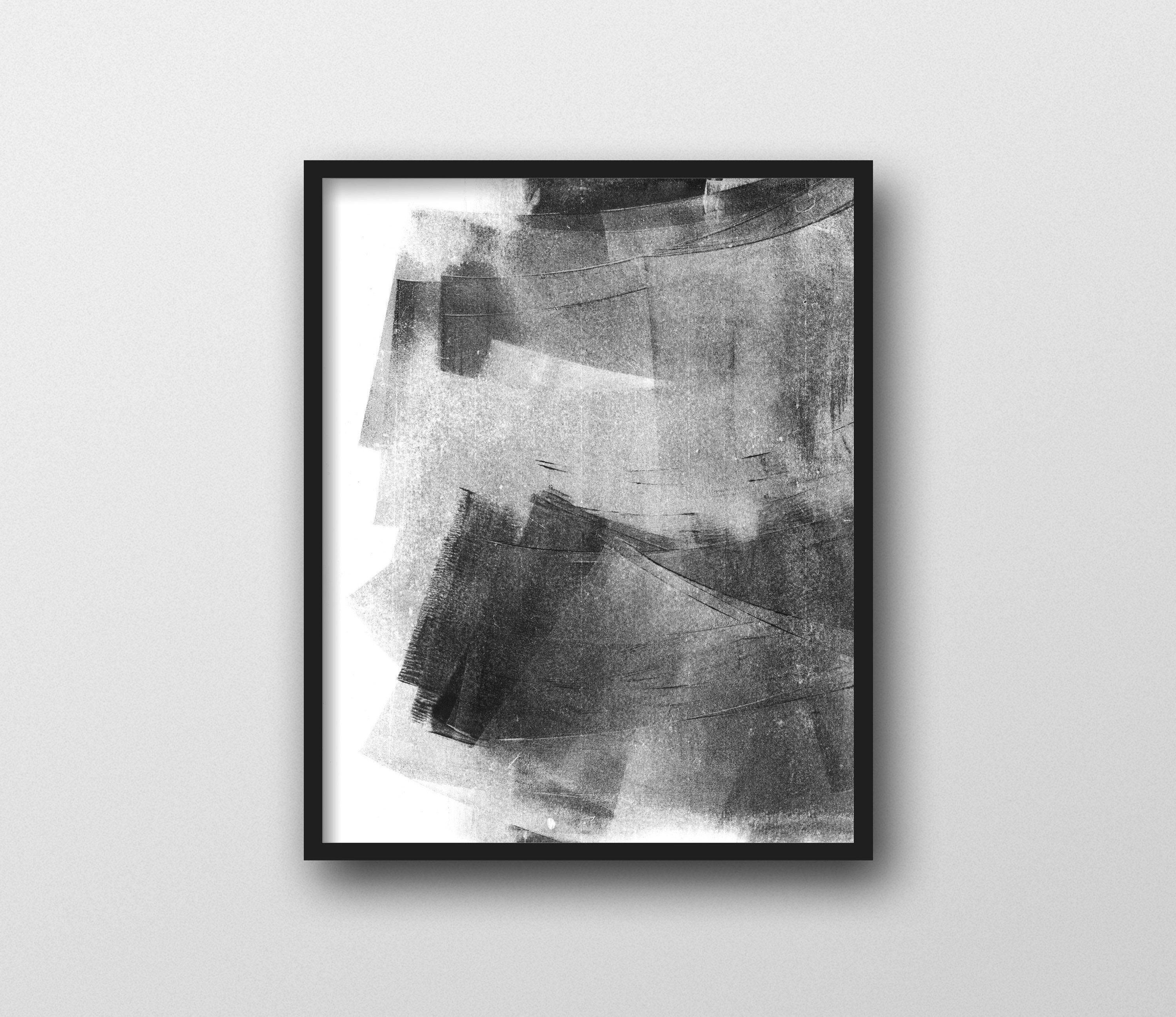 Abstract Art, Black and White Wall Art, Minimalist