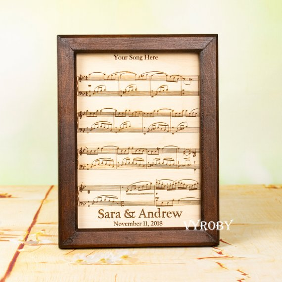 5th Anniversary Gift Ideas Wooden Gift For Couple Personalized