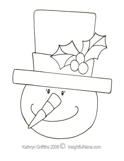 childrens coloring pages snowman hat - photo#40