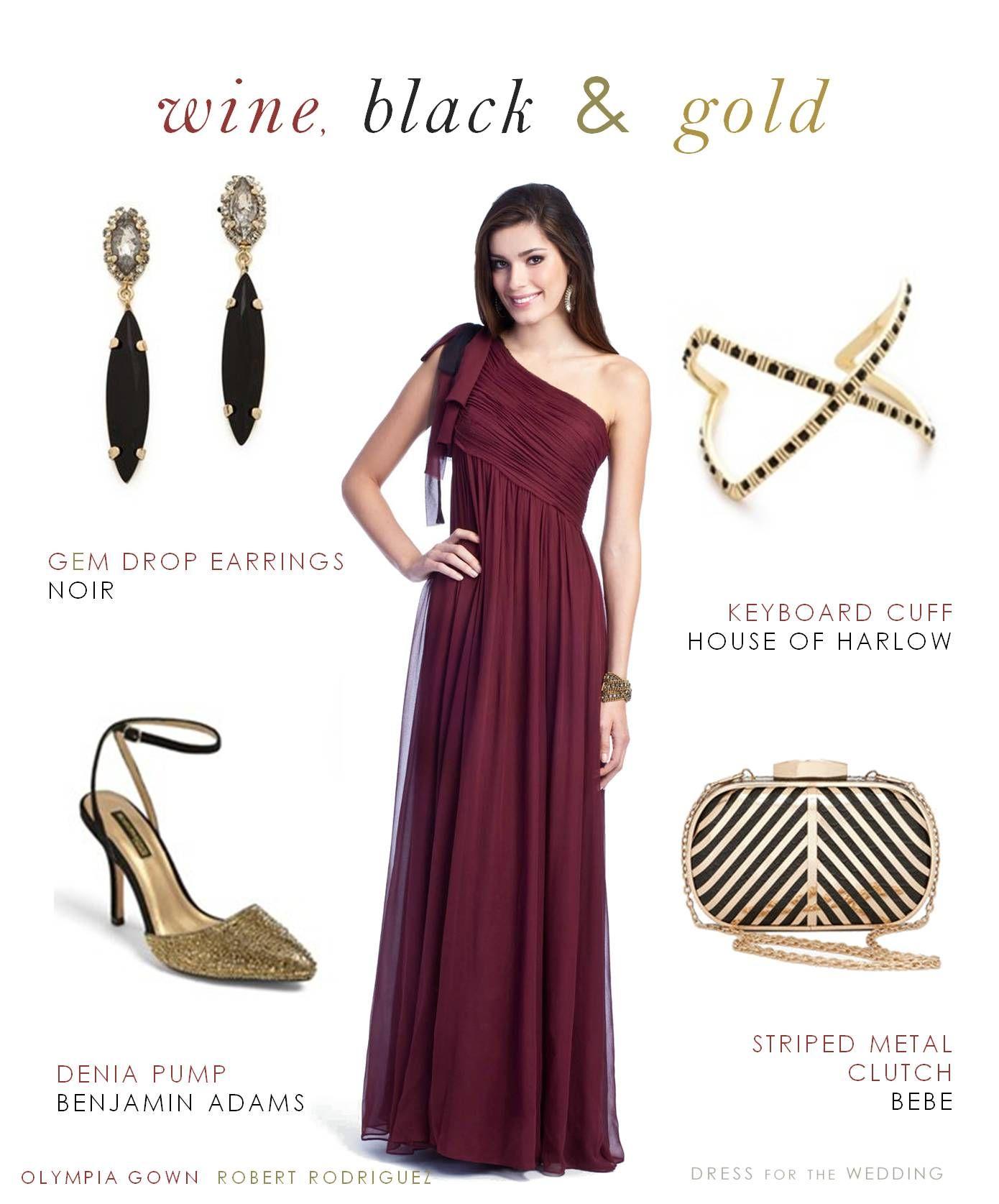Wine Black Gold Burgundy Dress Accessories Evening Gown Dresses Dresses [ 1675 x 1390 Pixel ]