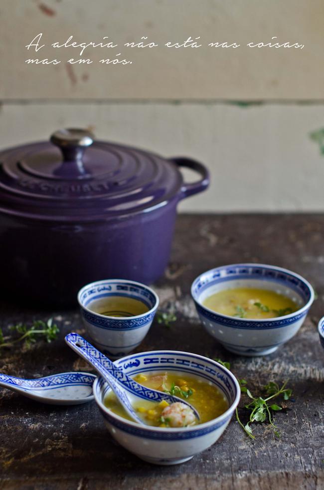 Marmita: Sopa de milho e camarão (Chinesa)