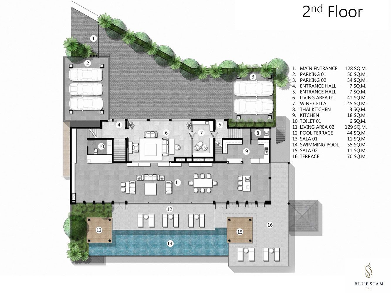 Villa 39 S Floor Plan Bluesiam Villa Phuket Thailand Exclusive Beachfront Holiday Villa Arsitektur Denah Rumah Rumah