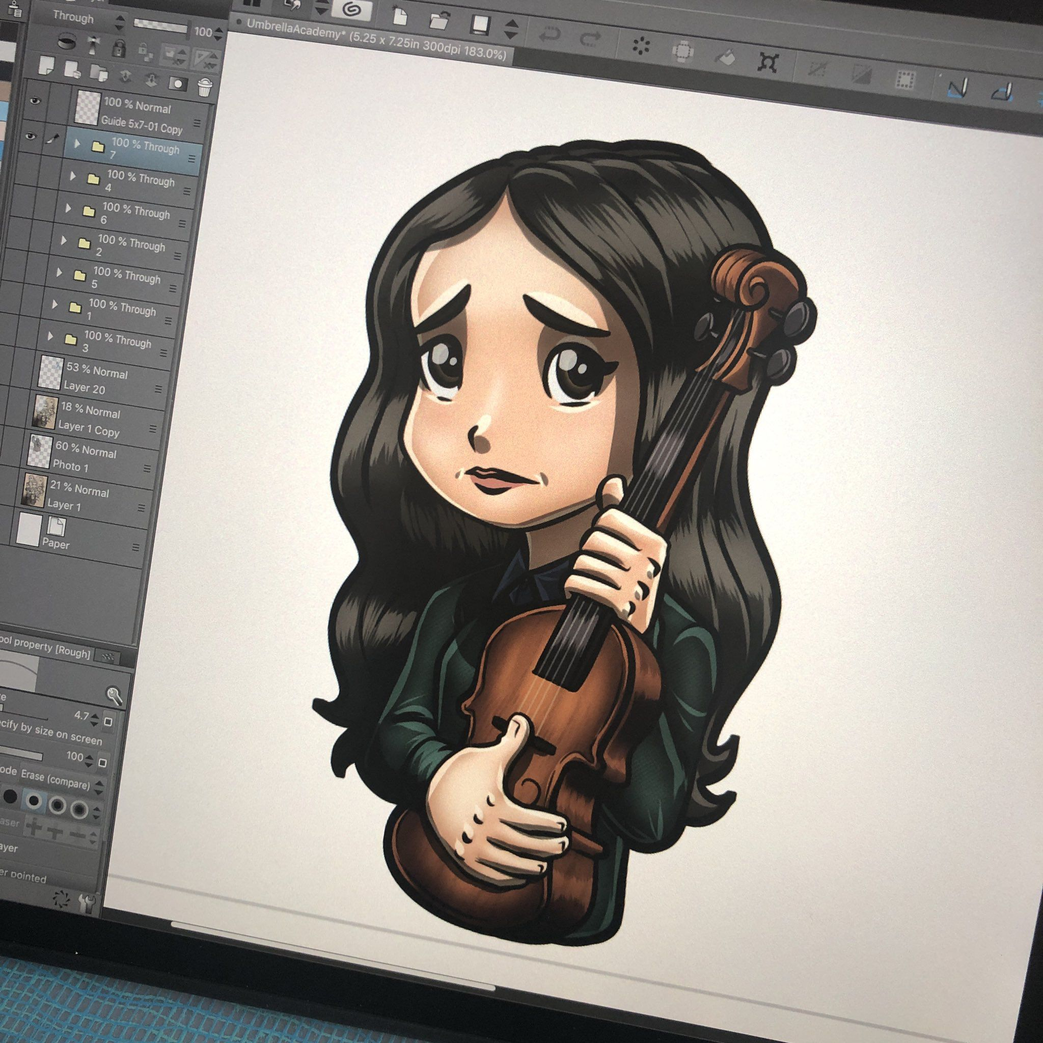 Currently On Deck Number 7 More To Come Ellenpage Umbrellaacad Umbrellaacademy Ellenpage Vany With Images Lord Mesa Art Really Cool Drawings Clip Studio Paint