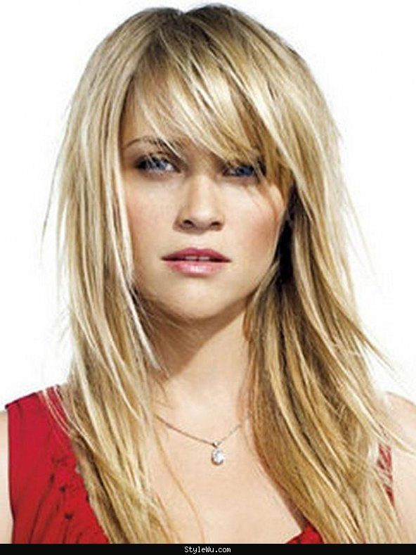 Celebrity Long Hairstyles With Side Bangs Google Search Hair