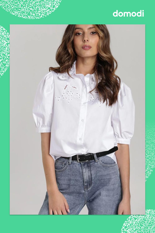 Koszula Show Me Some Love o oversizowym kroju, z koronkowym