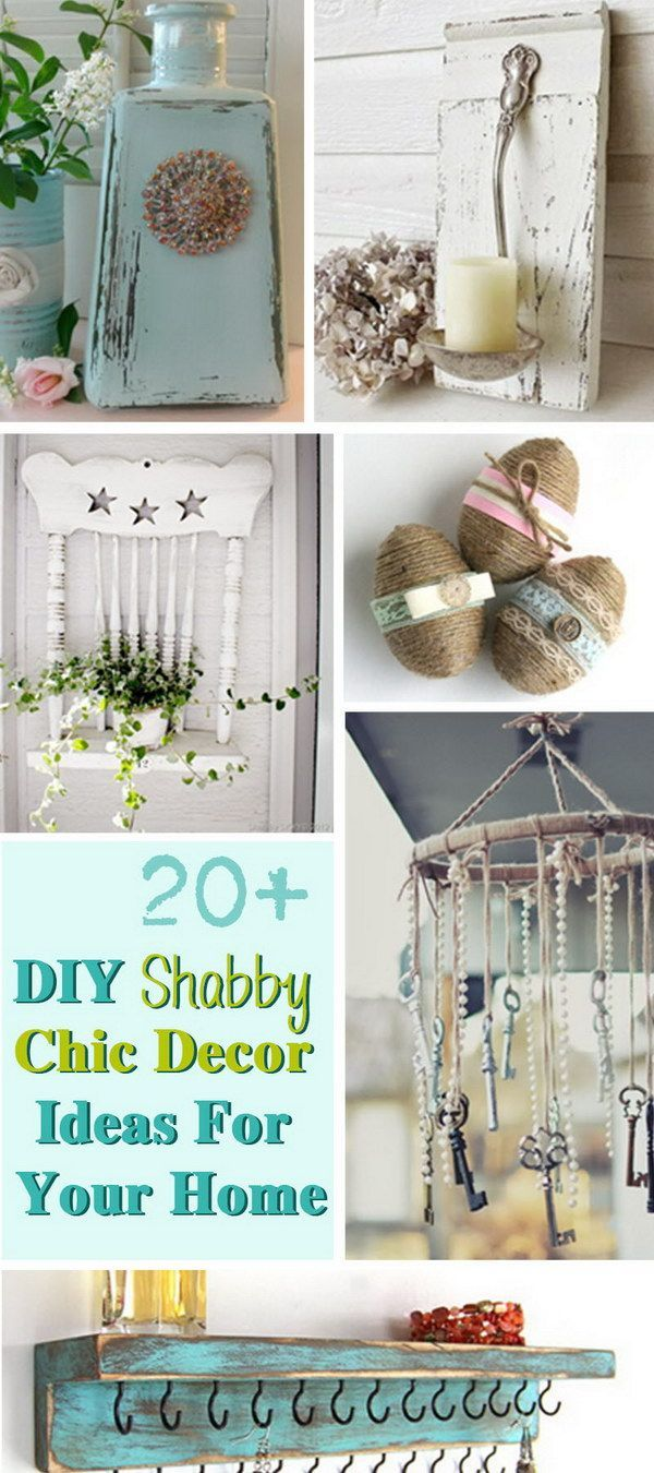DIY Shabby Chic Decor Ideas For Your Home! | Shabby Chic Home ...
